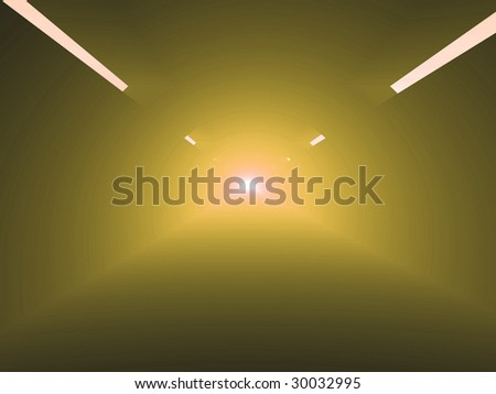 light in Tunnel, Abstract View
