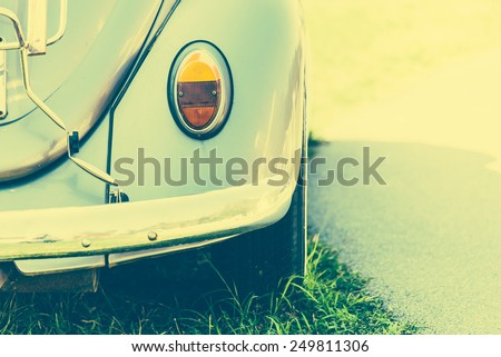 Light lamp vintage car style - vintage effect style pictures and sun flare filter