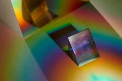 Light leak effect on a triangular prism wallpaper background