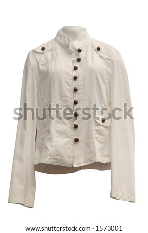 Light leather jacket isolated on white with clipping path