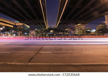 light motion underneath highway #572030668