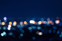 Light night bokeh. light city