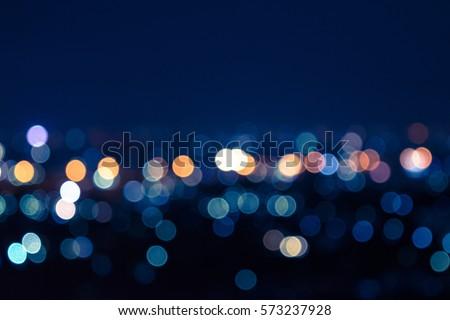 Light night city. light bokeh Stock photo ©