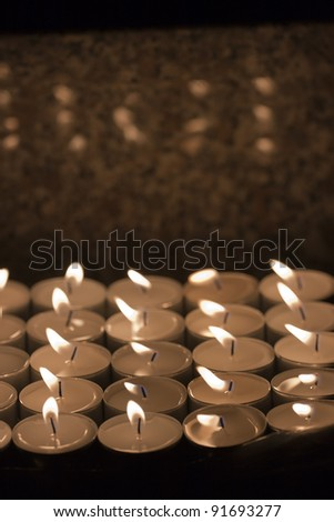 Light of Candles in the Church