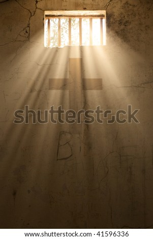 light of freedom or hope with cross of christ