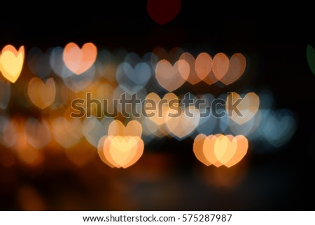 Light of heart shape #575287987
