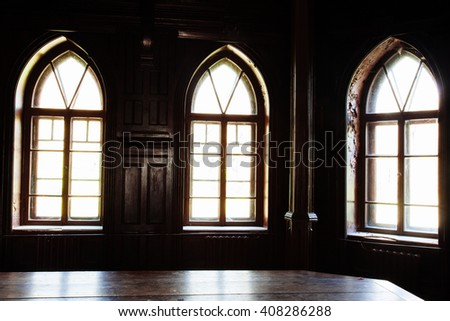 light of the old wooden windows ...
