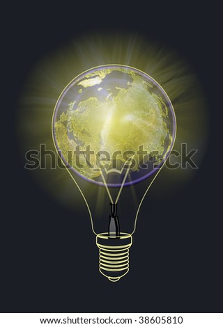 Light of the planet in space