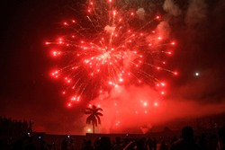 Light of victory firework at dhaka