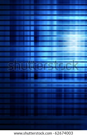 light on blue striped abstract background
