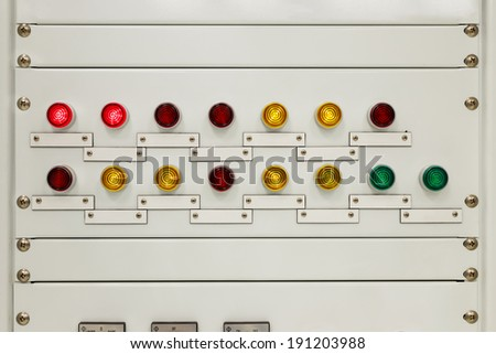Light on electrical panel control for security monitoring