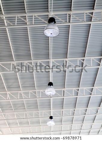 Light on roof of modern storehouse