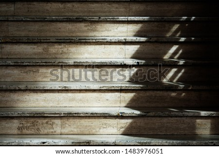 light on stair and shadow on stair