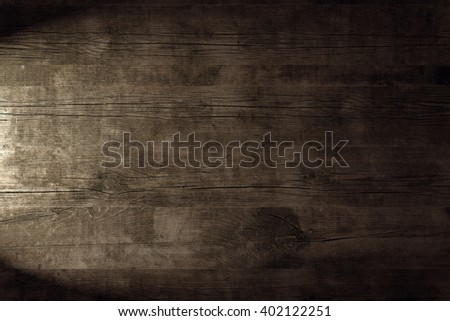 Light on wood background. Grunge texture. Rustic wallpaper