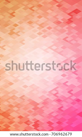 Light Orange abstract textured polygonal background. Blurry rectangular design. The pattern with repeating rectangles can be used for background.