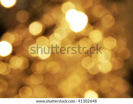 Light orange bokeh light reflection background
