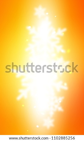 Light Orange vertical template with ice snowflakes. Glitter abstract illustration with crystals of ice. New year design for your business advert. #1102885256