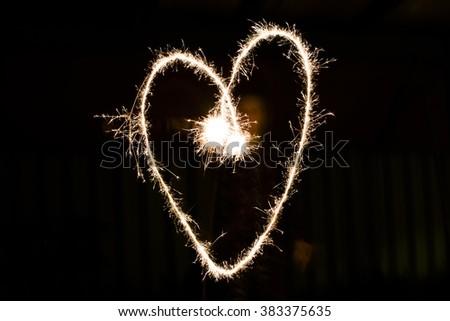 Light Painting a Love Heart