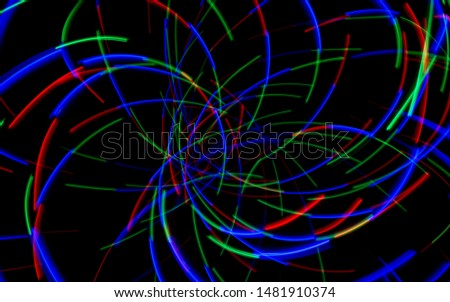 Light painting and making pictures abstract