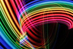 Light painting bright abstract background. Futuristic texture.