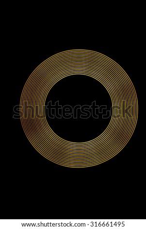 Light Painting Gold Light Rings