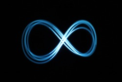 Light painting Infinity symbol