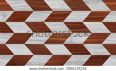 Light parquet floor with geometric pattern. Wood texture background. Foto stock ©