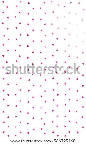 Light Pink abstract colorful background, which consist of triangles. Pattern with colored triangles on white background. #566725168