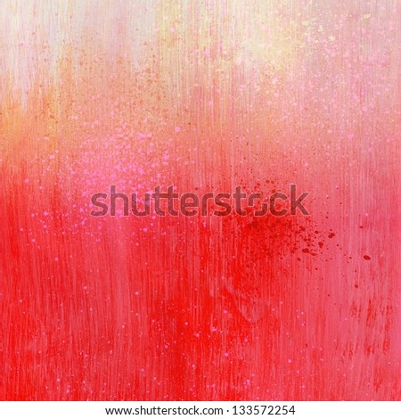 Light Painted Background Light Pink Red Acrylic Paint