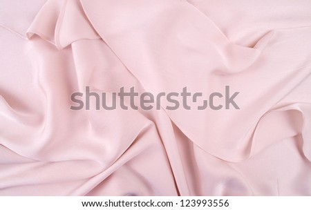 light pink silk drape, background or texture