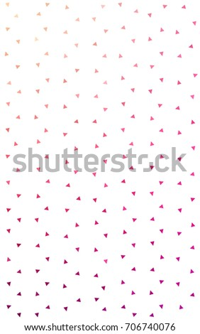 Light Pink, Yellow abstract colorful background, which consist of triangles. Pattern with colored triangles on white background. #706740076