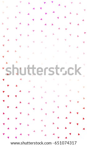 Light Pink, Yellow geometric simple minimalistic background, which consist of triangles on white background. Triangular pattern with gradient for your business design.  #651074317