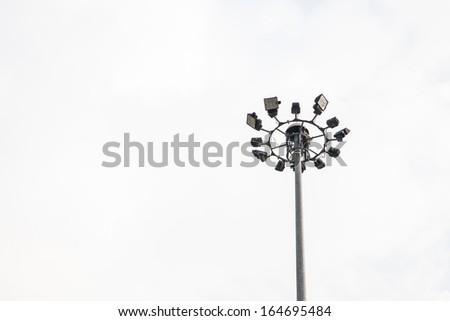 Light pole isolated on white background