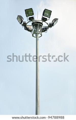 light pole on blusky background