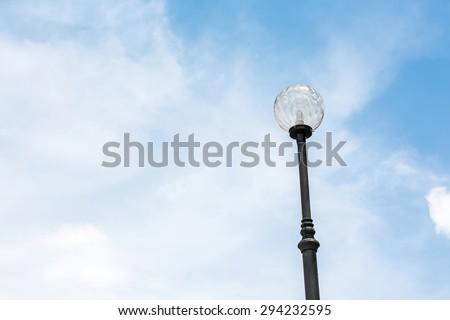 Light pole Street light  in blue sky