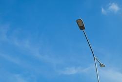 Light pole with blue sky back ground.LED light