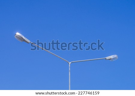 Light Pole with Blue Sky in Background