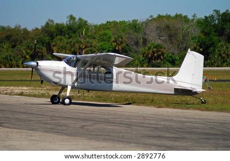 Light private airplane Cessna 180