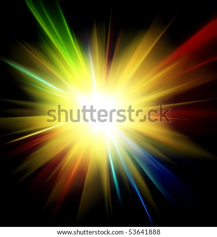 light rays or light explosion background
