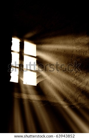 light rays through the window