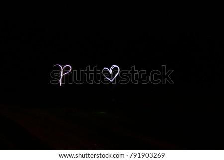 Light recording by heart shape. #791903269