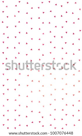 Light Red geometric simple minimalistic background, which consist of triangles on white background. Triangular pattern with gradient for your business design.  #1007076448
