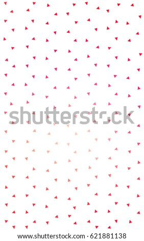 Light Red, Yellow abstract colorful background, which consist of triangles. Pattern with colored triangles on white background. #621881138