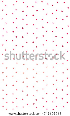 Light Red, Yellow abstract colorful background, which consist of triangles. Pattern with colored triangles on white background. #749601265