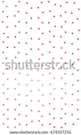 Light Red, Yellow geometric simple minimalistic background, which consist of triangles on white background. Triangular pattern with gradient for your business design.  #674337256