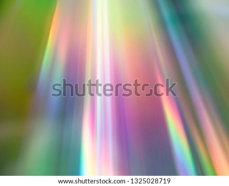 Light reflection on CD. Rainbow 80s, 90s vibes. Abstract background prism spectrum.
