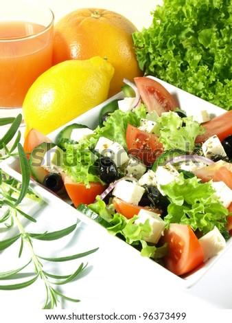 Light salad from italian cuisine