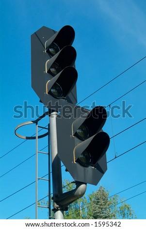 Light-signal on a railway line