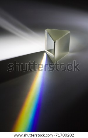 Light split - real photo - stock photo