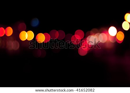 light the city at night, bokeh